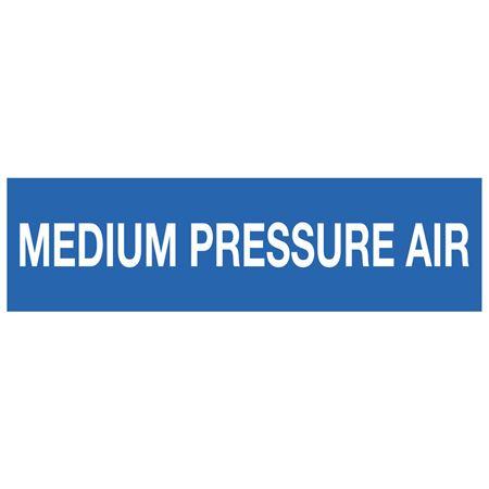 ANSI Pipe Markers Medium Pressure Air - Pk/10