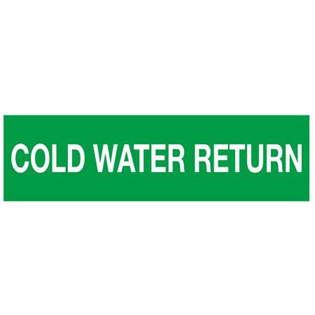 ANSI Pipe Markers Cold Water Return - Pk/10