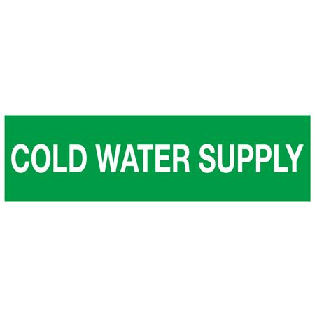 ANSI Pipe Markers Cold Water Supply - Pk/10