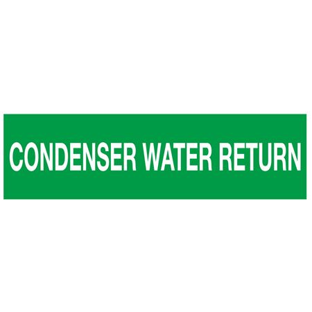 ANSI Pipe Markers Condenser Water Return - Pk/10