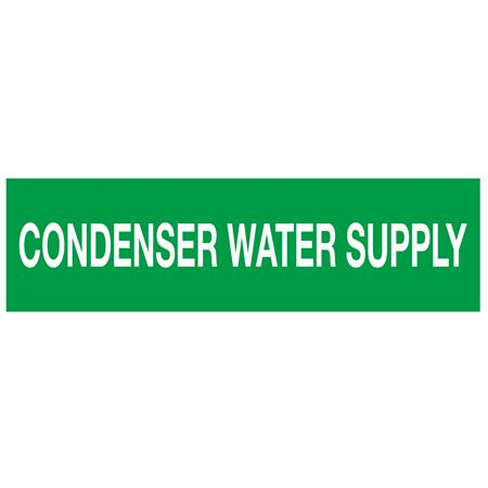 ANSI Pipe Markers Condenser Water Supply - Pk/10