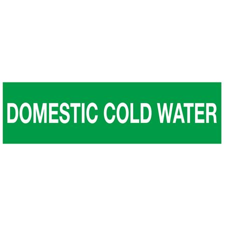 ANSI Pipe Markers Domestic Cold Water - Pk/10