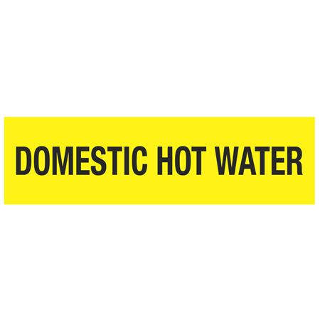 ANSI Pipe Markers Domestic Hot Water - PK10