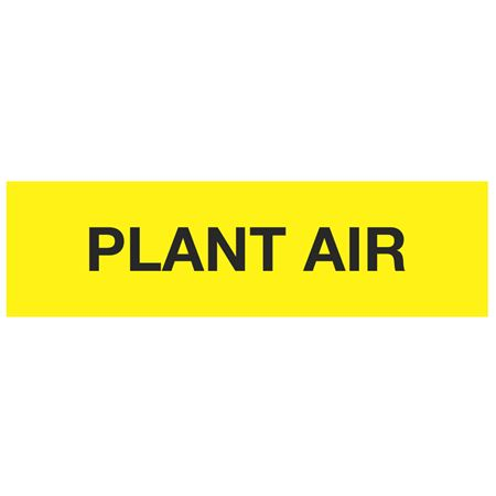ANSI Pipe Markers Plant Air - Pk/10