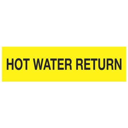 ANSI Pipe Markers Hot Water Return - Pk/10