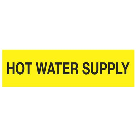 ANSI Pipe Markers Hot Water Supply - Pk/10