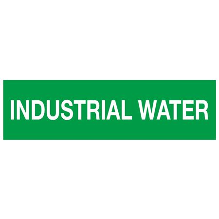 ANSI Pipe Markers Industrial Water - Pk/10