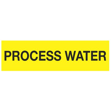 ANSI Pipe Markers Process Water - Pk/10