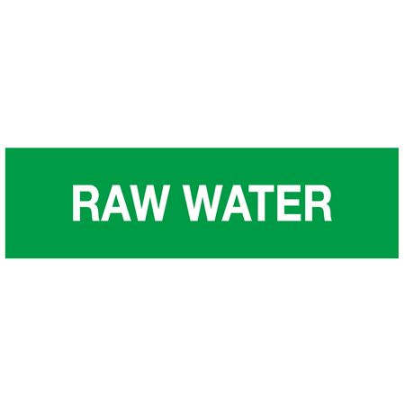 ANSI Pipe Markers Raw Water - Pk/10
