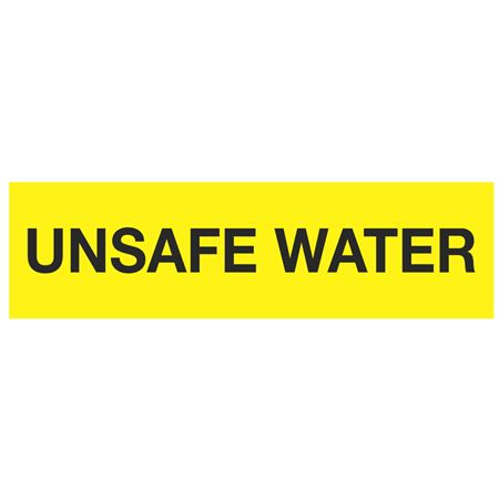 ANSI Pipe Markers Unsafe Water - Pk/10