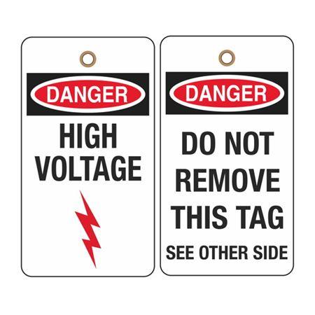 Danger High Voltage - 2 Sided