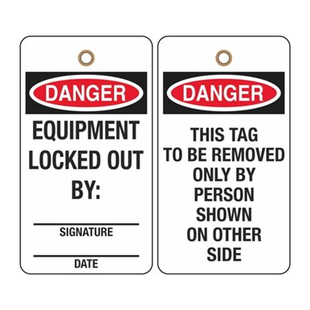 Danger Equipment Locked Out By