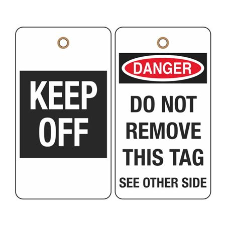 Keep Off Tag