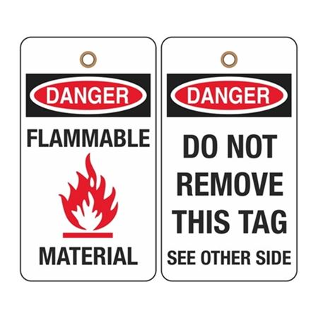 Danger Flammable Material (graphic) Tag