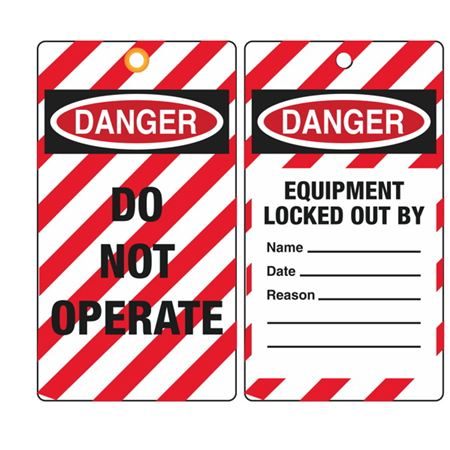 Danger Equipment Locked Out By Tag