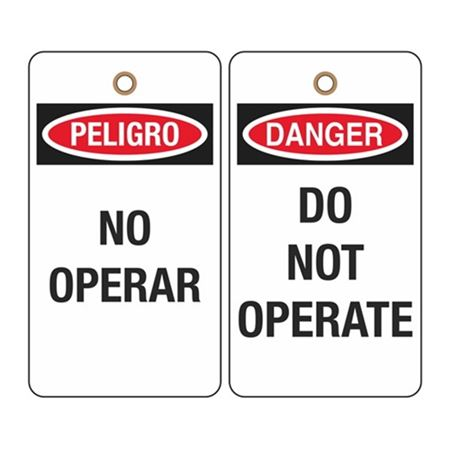 Danger Do Not Operate (Bilingual) Tag