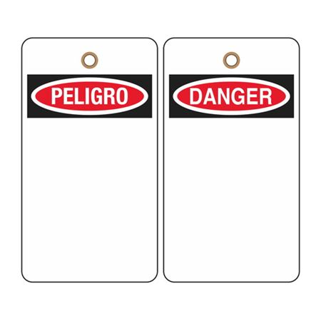 Danger (Blank - Bilingual) Tag