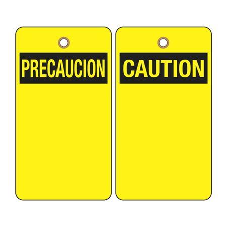 Caution (Blank - Bilingual) Tag