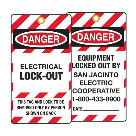 Accident Prevention Tags - Custom - 3 1/8 in x 5 5/8 in