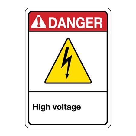 ANSI High Voltage Sign