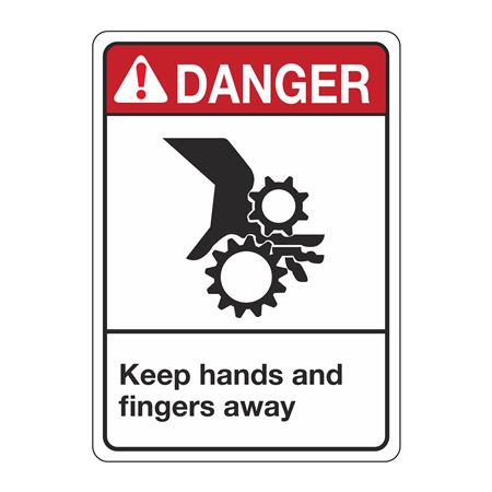 ANSI Keep Hands and Fingers Away Sign