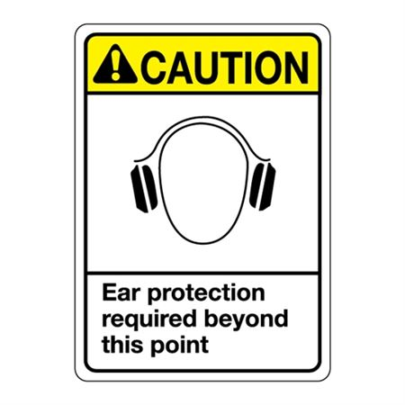 ANSI Ear Protection Required Beyond This Point Sign