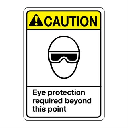 ANSI Eye Protection Required Beyond This Point Sign