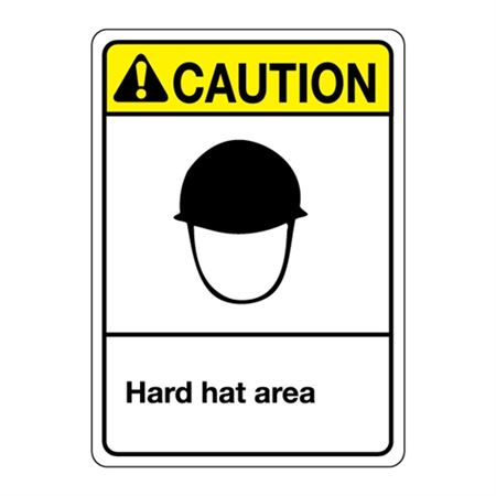 ANSI Hard Hat Area Sign