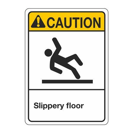 ANSI Slippery Floor Sign