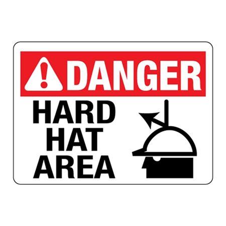 ANSI DANGER Hard Hat Area Sign