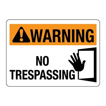 ANSI WARNING No Trespassing Sign - Graphic