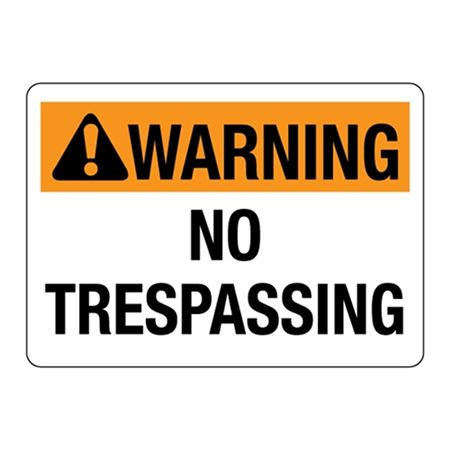 ANSI WARNING No Trespassing Sign