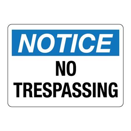 ANSI No Trespassing