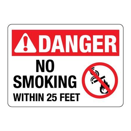 ANSI DANGER No Smoking Within 25 Feet