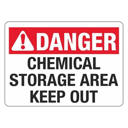 ANSI Chemical Storage Area Keep Out