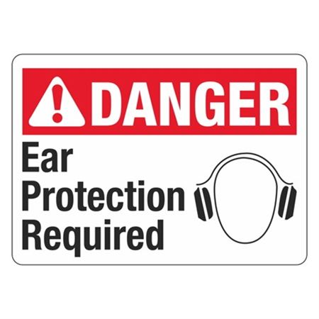 ANSI DANGER Ear Protection Required