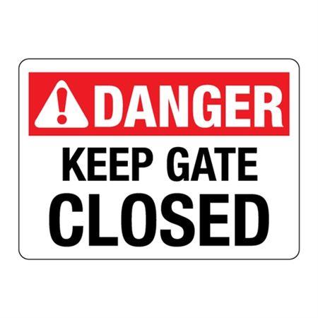ANSI Keep Gate Closed
