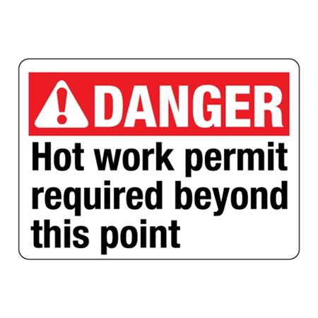 ANSI Hot Work Permit Required Beyond This Point