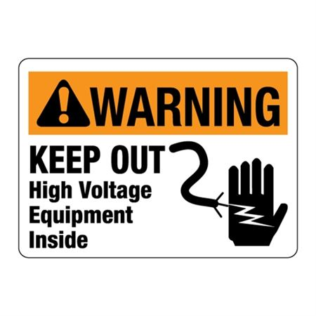 ANSI Keep Out! High Voltage Equipment Inside