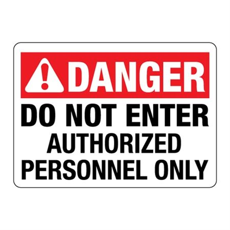 ANSI Do Not Enter Authorized Personnel Only