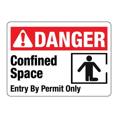 ANSI DANGER Confined Space Entry By Permit Only