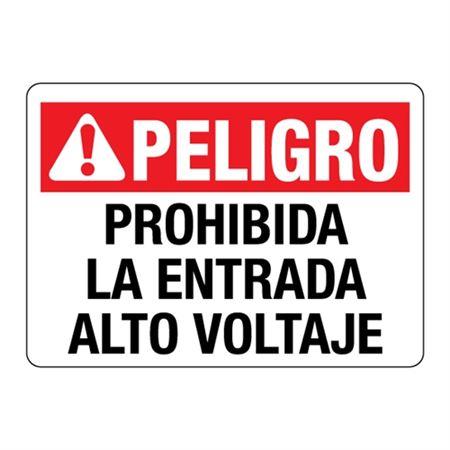 ANSI Prohibida La Entrada Alto Voltaje