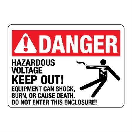 Hazardous Voltage Keep Out! Do Not Enter This Enclosure!