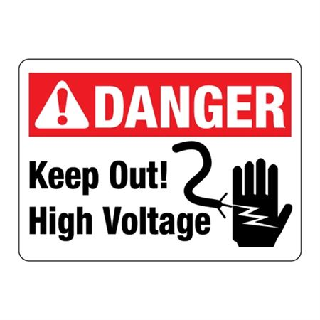 ANSI Keep Out High Voltage