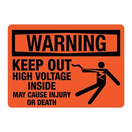 ANSI WARNING KeepOut HighVoltageInside MayCauseInjury/Death