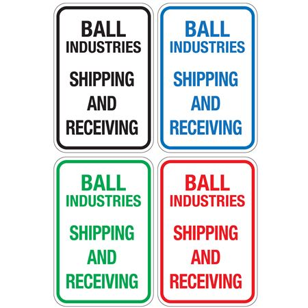 Jiffy Traffic and Parking Signs - Vertical 12x18