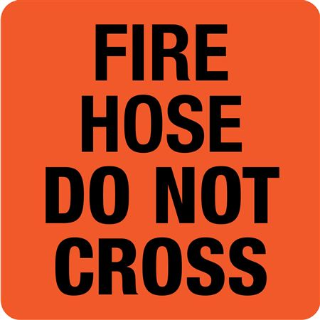 Interchangeable A Frame Sign - FIRE HOSE DO NOT CROSS