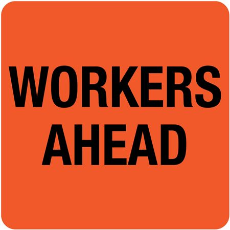 Interchangeable A Frame Sign - WORKERS AHEAD