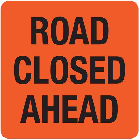 Interchangeable A Frame Sign - ROAD CLOSED AHEAD