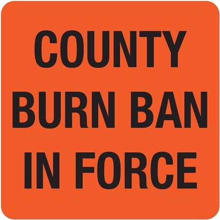 Interchangeable A-Frame Sign - COUNTY BURN BAN IN FORCE